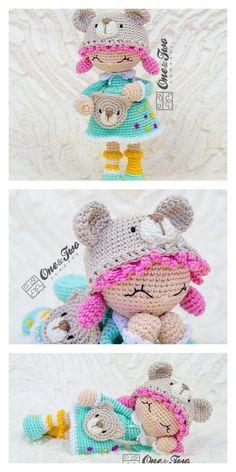 Doll Patterns Free, Crochet Amigurumi Free Patterns, Crochet Dolls, Crochet Baby, Free Crochet, Crocheted Toys, Amigurumi Doll, Sweet Girls, Hello Dear