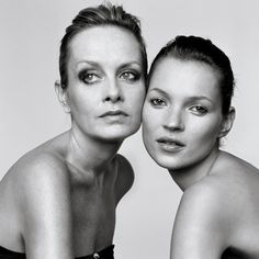 Twiggy and Kate Moss, London, UK, 1999 / photos by Brigitte Lacombe