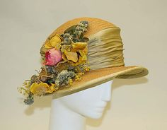 Hat 1912, American, Made of silk and straw ♡