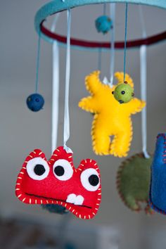 Little Monsters Baby Nursery Mobile