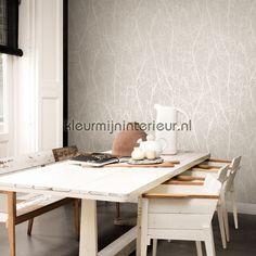 Subtiele takjes licht grijs behang 17890 Interieurvoorbeelden behang BN Wallcoverings