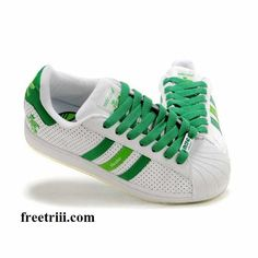 Adidas Shoes Green Stripes