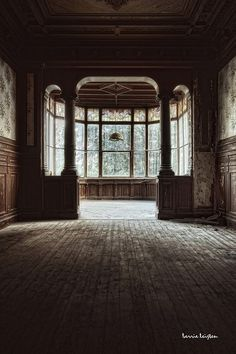 abandoned window view