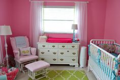 Project Nursery - Pink, Green, Aqua Nursery_4