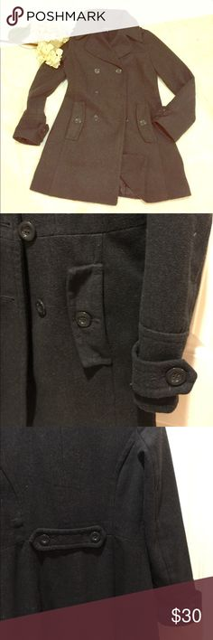Gray pea coat sz S💜 Dark gray❄️ in great condition. ❄️ Super cute and perfect for this winter ❄️ ambiance apparel Jackets & Coats Pea Coats