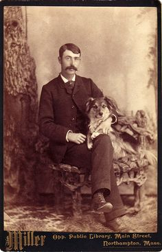 Man and Dog, Northampton, Mass, circa 1880s