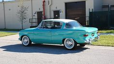 This Hawaiian Green beauty is a 1959 Studebaker Lark VIII Regal and it's listed with Mecum for an upcoming auction in January. Since it's yet to be auctioned there is no price, of course, but NADA. 1950s Car, International Harvester Truck, Germany And Italy, Vintage Cars, Vintage Auto, Old Cars, Exotic Cars, Muscle Cars, Cars For Sale