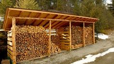 You want to build a outdoor firewood rack? Here is a some firewood storage and creative firewood rack ideas for outdoors. Lots of great building tutorials and DIY-friendly inspirations! Wood Storage Rack, Shed Storage, Lumber Storage, Diy Storage, Canoe Storage, Storage Organization, Firewood Shed, Firewood Storage, Buy Firewood