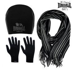 Lonsdale London Winter/Geschenkset Mütze, Schal, Handschuhe verschiedene Modelle