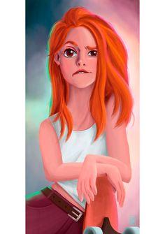 Oil Pastel Drawings, Colorful Drawings, Cool Drawings, Redhead Art, Disney Princess Tattoo, Character Design Girl, Fantastic Art, Hair Art, Disney Art