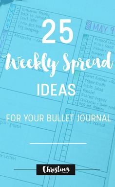25 Weekly Spread Ide