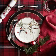 Williams Sonoma features festive Christmas dinnerware sets and Christmas plate sets that are perfect for entertaining with friends and family. With Williams Sonoma Christmas dinnerware, your christmas dining table will bring holiday joy to your fami Christmas Table Settings, Christmas Tablescapes, Christmas Centerpieces, Holiday Tables, Table Centerpieces, Christmas Decorations, Centerpiece Ideas, Table Decorations, Tartan Christmas