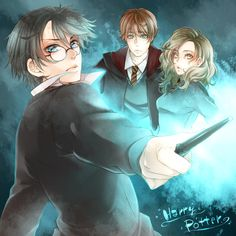 harry potter, rin weasely, hermione granger
