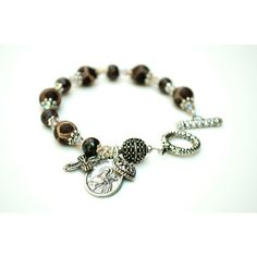 Saint Therese Rosary Bracelet, Catholic Jewelry, Little Flower of... ($53) ❤ liked on Polyvore featuring jewelry and bracelets