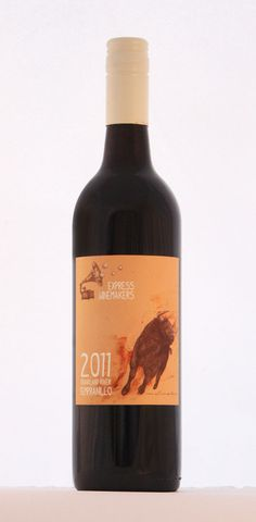 Spanish Wine Label Design for Express Winemakers by Beetle Creative. Tempranillo. Raging Bull. Mixed Media. Bull Illustration