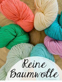 © Die Maschen zum Glück | Wolle online kaufen - reine Baumwolle Baumwollgarn zum stricken