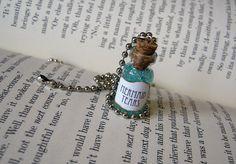 Mermaid Tears II 1ml Glass Vial Bottle Necklace by RedQueenMisc, $7.99