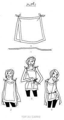 scarf shirt