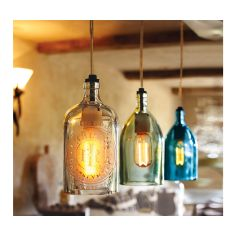 Vintage Seltzer Bottle Pendant Lights