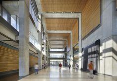 "<b>Project:</b> Manitoba Hydro Place<p></p><b>Location:</b> Winnipeg, Manitoba<p></p><b>View:</b> Interior gallery<p></p><b>Architect:</b> <a href=""http://www.kpmbarchitects.com/"">Kuwabara Payne McKenna Blumberg Architects</a> and <a href=""http://www.smit"