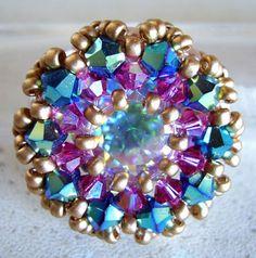Schéma de bague en perles n°036, Bagues en perles, Schémas (gratuits)