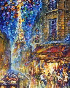 Les peintures à l'huile texturées reflètent les souvenirs romantiques de Leonid Afremov (21)
