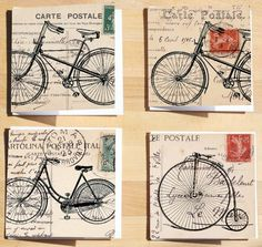 Less is More: Bicycle Postage! Bicycle stamps from Hero Arts for Don's wire bikes