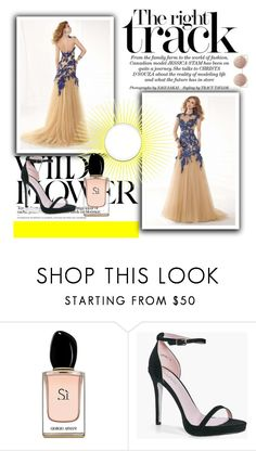 """""""robe de soirée-prom dress-29"""" by sophie-robelle ❤ liked on Polyvore featuring Armani Beauty, Boohoo and MANGO"""