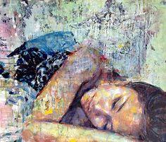 Lovely artwork from  Henri Lamy! 'Maïa', 120 x 120 cm, Acrylic on canvas, 2014. #painting #HenriLamy #artwork