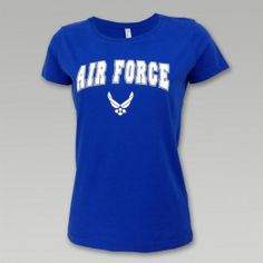 AIR FORCE LADIES GLITTER ARCH WINGS TEE
