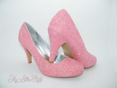 Dark Blush Pastel Pink glitter mid court heels Bridal Wedding Bride Bridesmaid Junior Maid of honor Mothers day Birthday Gift for her party Bridal Heels, Wedding Heels, Wedding Bride, Special Birthday, Birthday Gifts For Her, Bling Heels, Court Heels, Blue Glitter, Maid Of Honor