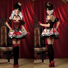 Barato Nova Rainha do Coração cosplay fancy dress sexy deluxe rainha do traje coração rainha Do Sexo Feminino Vestidos de Festa de halloween para mulheres, Compro Qualidade Roupas - Bebê diretamente de fornecedores da China: [xlmodel]-[custom]-[11477][xlmodel]-[custom]-[8888]Item Especificaçãofrete Grátis deluxe Queen of Heart Cosplay costume