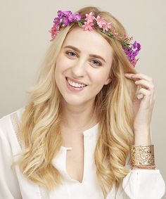 Love this Pink & Purple Wildflower Halo Headband by Mia Beauty on #zulily! #zulilyfinds