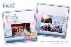 This project will show you how to create a gorgeous coastal inspired double page scrapbook layout. This workshop will show you a different way to. Scrapbook Designs, Scrapbook Pages, Scrapbooking Ideas, Oasis, Coastal, Finding Yourself, Workshop, Barn, Layout