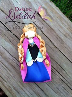 Princess Anna Ribbon Hair Clip, Frozen Hair Clip, Princess Hair Clip on Etsy, $10.00