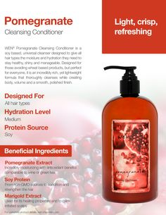 Pomegranate Cleansing Conditioner Available at chazdean.com