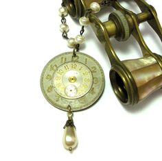 1900's Vintage Watch Dial Necklace Exclusive Design by Mystic Pieces #steampunk #jewelry #mysticpieces #etsy