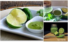 Peruvian Aji Verde - a tangy spicy sauce with cilantro, parsley, onion ...