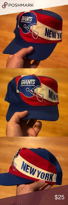 VINTAGE NEW YORK GIANTS SNAPBACK Size  OS (adjustable) 9-9.5 10 condition  Serious inquiries no lowballing Tags  hat snapback new york giants jets nfl  ... 84fc317fad3b