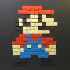 On instagram by officialjocson #nes #microhobbit (o) http://ift.tt/1P5Zbf6 #Mario but your princess is in another castle. // #postits #8bit #retro