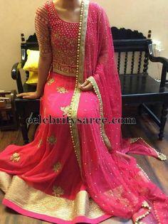 Pink Bridal Work Lehenga   Saree Blouse Patterns