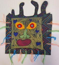 Art Room Blog: 3rd Grade Picasso Masks...