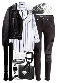 """""""Outfit with ripped jeans and knee high boots"""" by ferned ❤ liked on Polyvore featuring Stuart Weitzman, Maison Scotch, Topshop, Zara, Casetify, David Yurman, women's clothing, women, female and woman"""