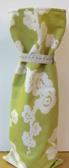 Cherry Blossom Wine Bag Handmade Asian Theme Gift by SoraCreations, $6.75