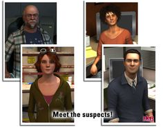 The suspects from Nancy Drew: The Deadly Device!