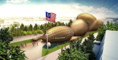 Malaysia pavilion: the external structures allow for entirely open interior spaces