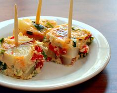 A must have at any Spanish tapas bar: Tortilla Española...this one is baked rather than fried, less mess to clean up (1) From: The Perfect Pantry (2) Webpage has a convenient Pin It Button