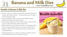 banana and milk diet plan for weight loss Fat Loss Diet, Weight Loss Diet Plan, Lose Weight, Milk Diet, Banana Contains, 7 Day Diet Plan, Health Is Wealth Quotes, Banana Benefits, Most Effective Diet