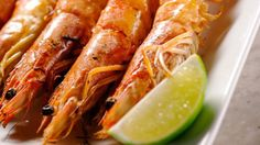 Try Martha Stewart's grilled shrimp recipe with lemongrass marinade. Get this seafood recipe at PBS Food.