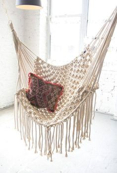 Chaise hamac / macramé Swing / suspension chaise en Macrame